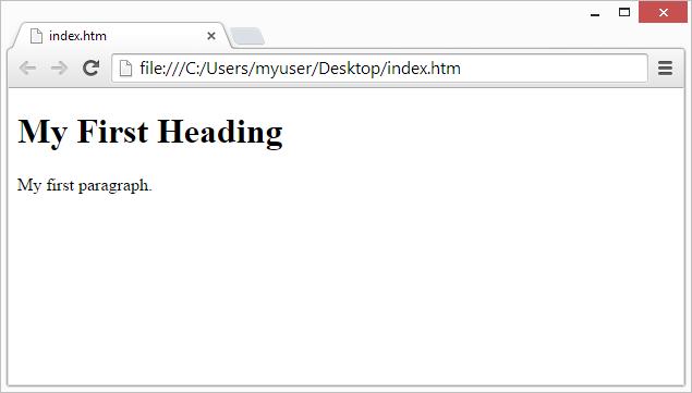 Screenshot of a web browser displaying a basic html webpage.